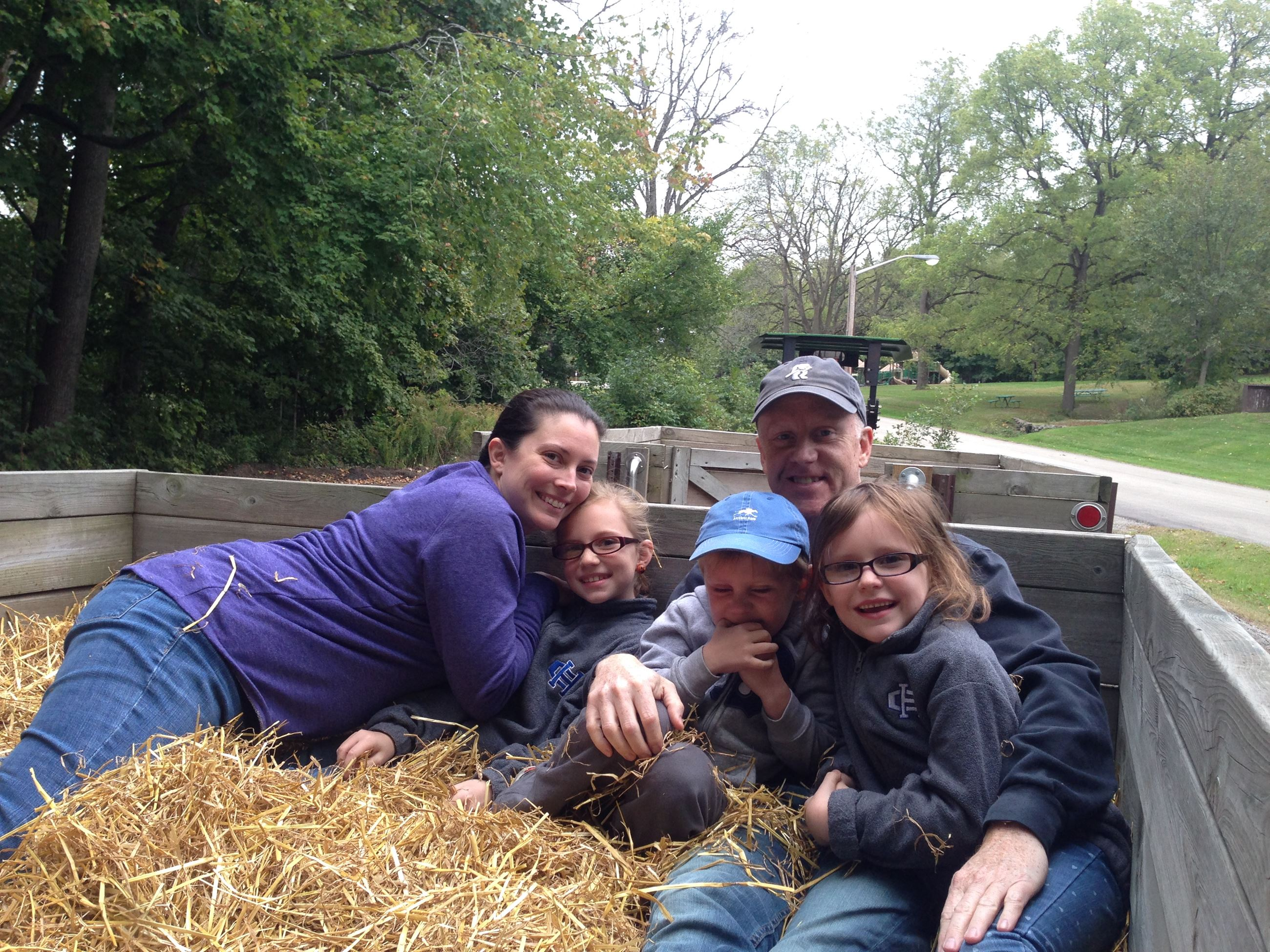 fall hayride at Bendix Woods County Park