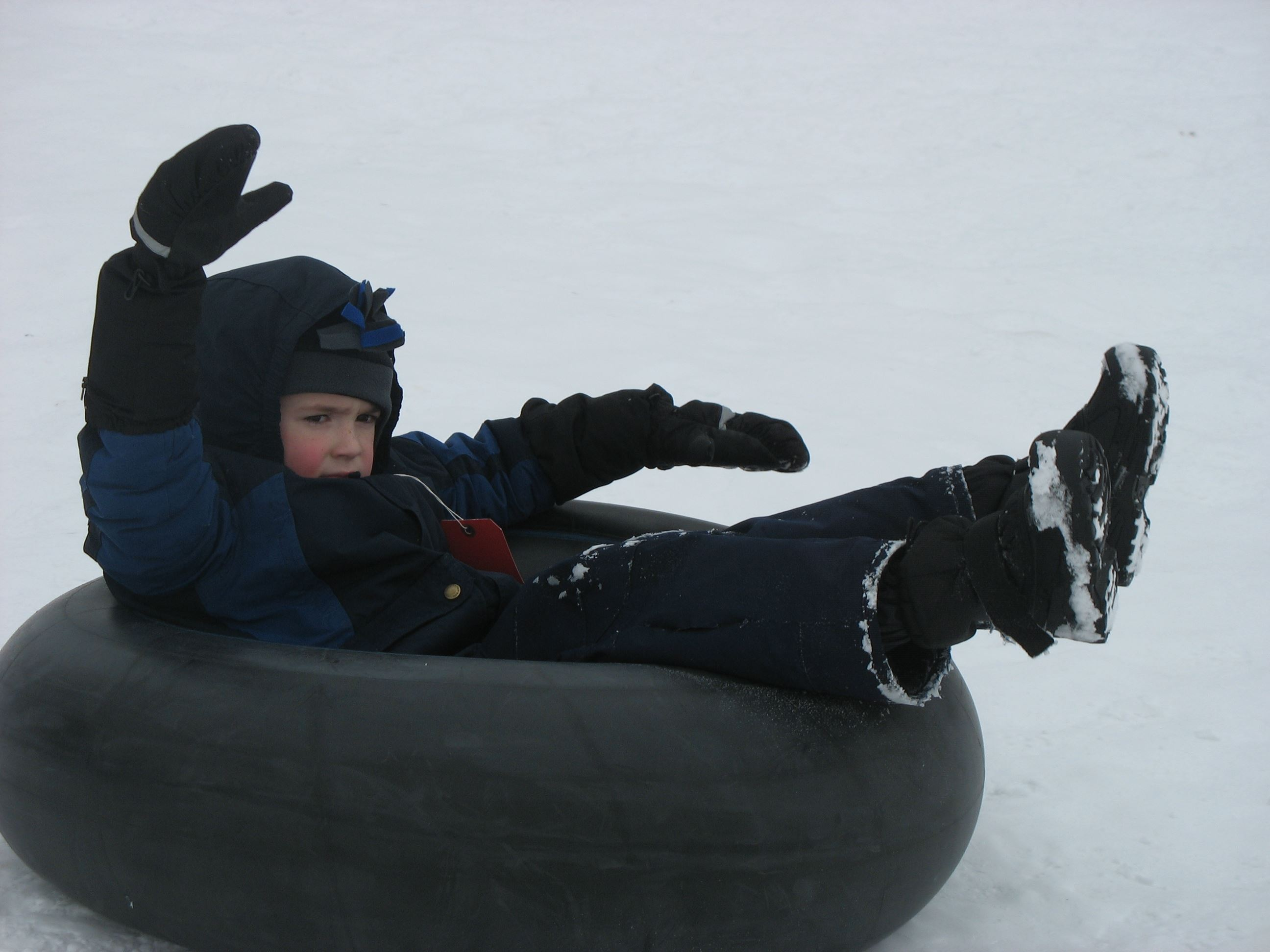young tuber on the tube hill